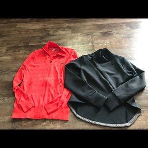 Women's ASICS zip up workout jackets size medium